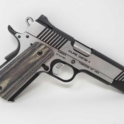510  Kimber Eclipse Custom ll 10mm Semi-Auto Pistol Serial Number: KF44781 Barrel Length: 5