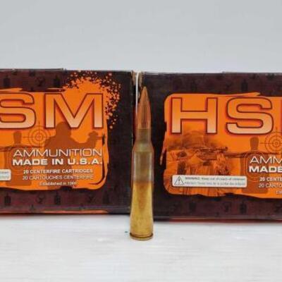 #824 • 80 Rounds Of HSM .338 LAPUA - 300 Grain