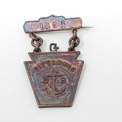 #1594 • US Naval Badge 1896