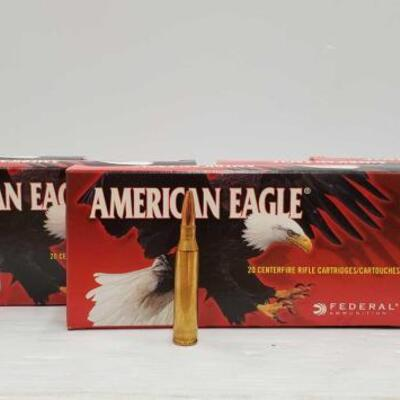 820  100 Rounds Of Federal Ammunition American Eagle .338 LAPUA Magnum 100 Rounds Of Federal Ammunition American Eagle .338 LAPUA Magnum...