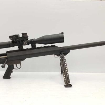 700  Barrett M-99 .416 32'' Heavy Bolt-Action Rifle w/ Nightforce Scope and Pelican Case This rifle features a Nightforce NSX 5.5-22 x56...