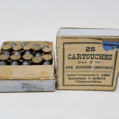 #832 • 22 Rounds Of Vintage 7mm Lefaucheux Ammo LIVE IN 5d 20h 7min