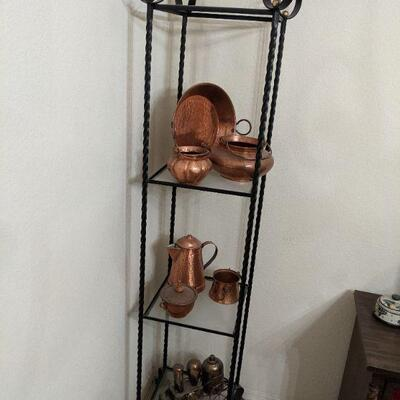 shelf and top shelf of copper sold