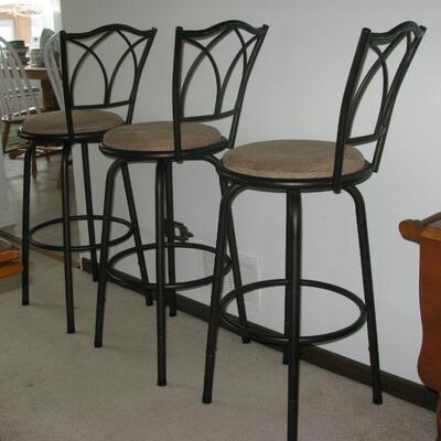 swivel bar stools ( there are 3)   BUY IT NOW  $ 30.00 EACH