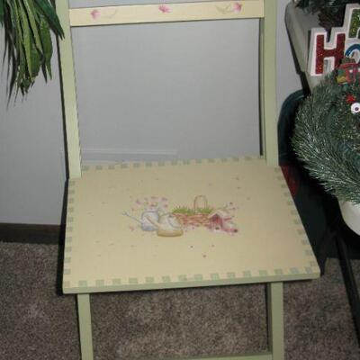 painted folding chair  BUY IT NOW $ 20.00