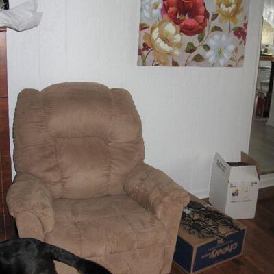 Recliner in family room   BUY IT NOW $ 65.00