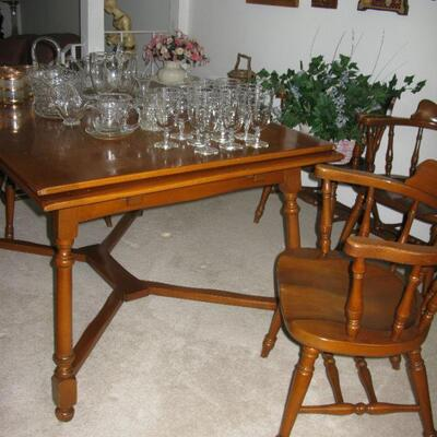 refractor ends dining table  BUY IT NOW $ 145.00 captain chairs  BUY IT NOW $ 30.00 EACH