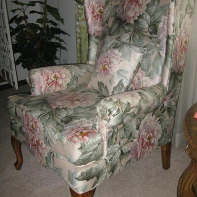 beautiful tall wing back chair (there are 2) BUY IT NOW  $ 85.00 EACH
