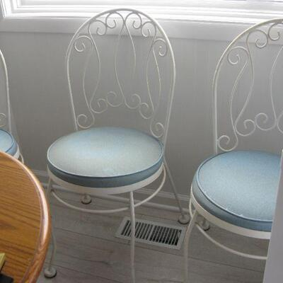 white iron chairs BUY IT NOW $ 40.00 EACH