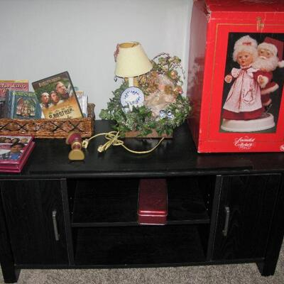 TV stand in Christmas room  BUY IT NOW $30.00