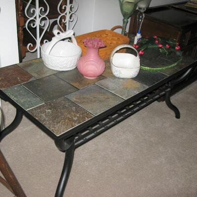 tile top coffee table  BUY IT NOW $ 75.00