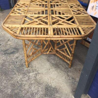 Beautiful, Vintage Bamboo Chinoiserie dining room set with 6 chairs. $1750 for entire set