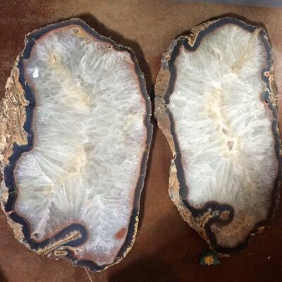 Assorted Agate slabs from Brazil and Uruguay, Grade A+ perfect for tables! Priced by the kilogram and available at the studio