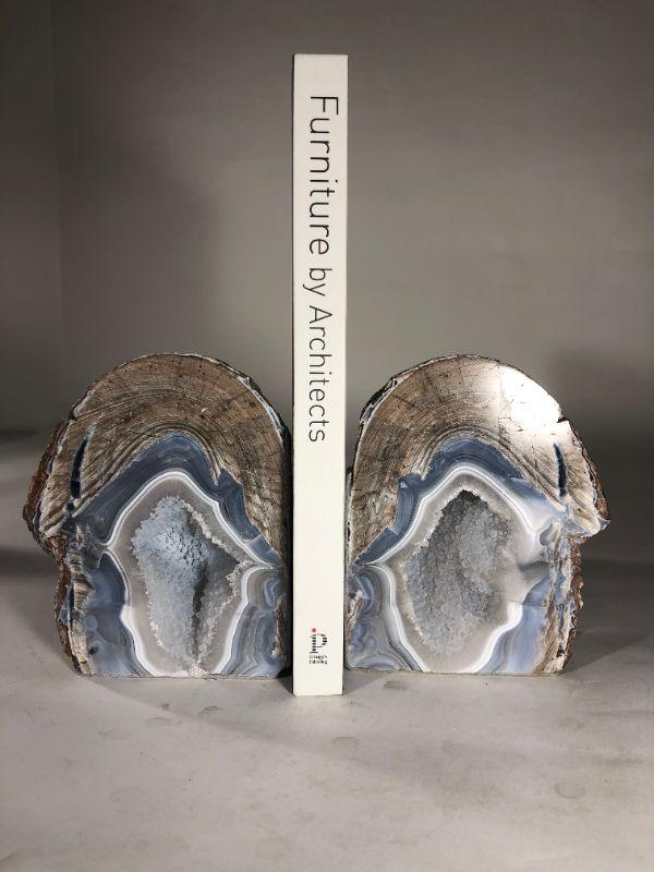 Assorted Geode bookends with heavy crystals and beautiful colors - $35 per pair