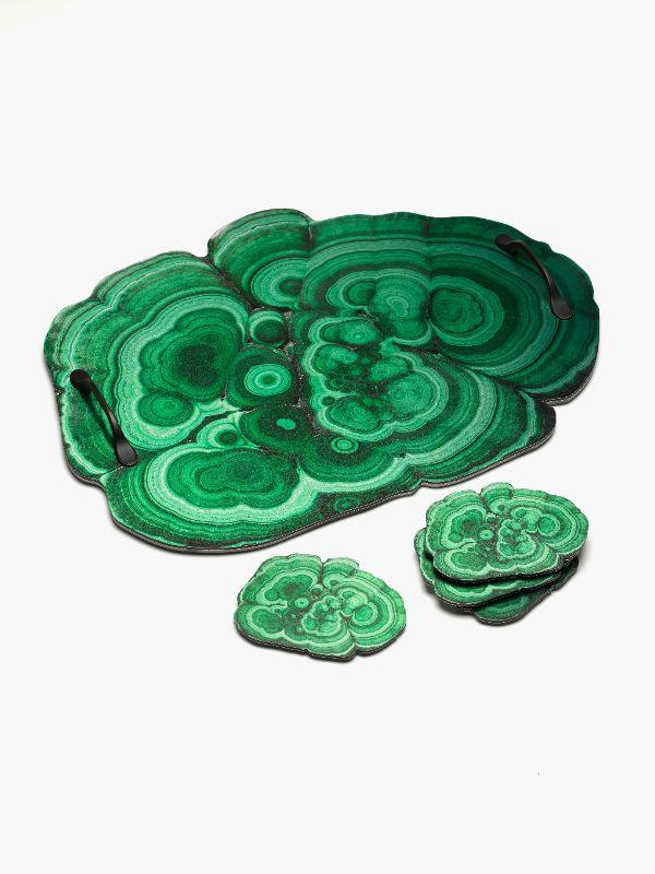 Serving trays with Malachite, Geode or Ammonite imagery $20 each