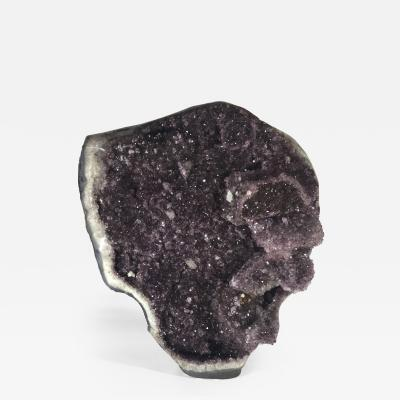 Giant Grade A+ Amethyst featuring polished sides and flat bottom, 20