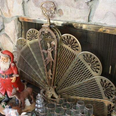 Vintage Fan Fireplace Screen