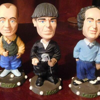 Three Stooges Bobble Heads