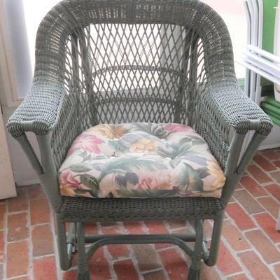Matching Wicker Chair