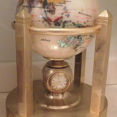 Globe with Clock