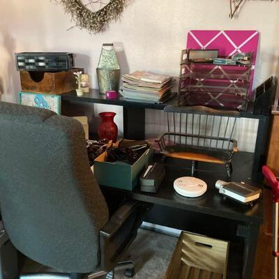 Desk with stuff