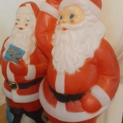 vintage Christmas blow molds