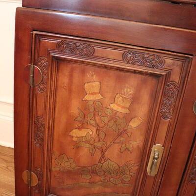 Door of china cabinet.