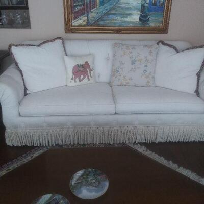Pair of beautiful white sofas reduced to $125 each