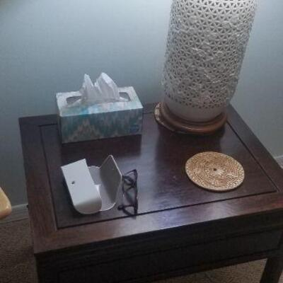 Solid Rosewood End Table