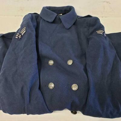 8306  Air Force Trench Coat With Senior Airman Rank Air Force Trench Coat With Senior Airman Rank