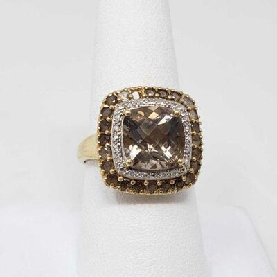 2312  14K Gold Diamond Ring, 4.7g Ring Size: 8.5