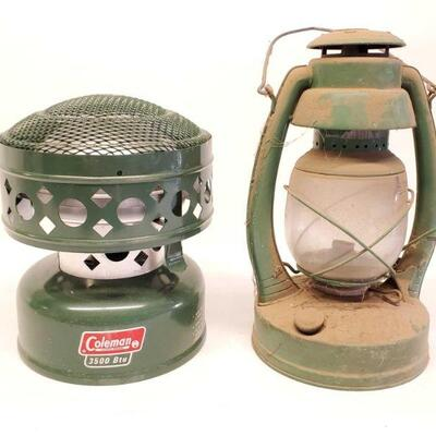 8100  Coleman Catalytic Heater And Coleman Lantern Heater model 512A