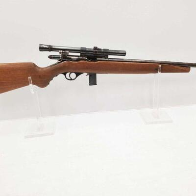 1016  Mossberg 142-A .22 S.LR Bolt Action Rifle With Weaver B4 Scope Serial Number: 2antique Barrel Length: 18.5