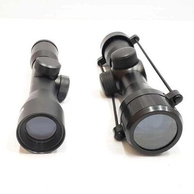 2132  One Ultralux Scope and One NcStar Compact Tactical Series Scope One Ultralux Scope and One NcStar Compact Tactical Series Scope