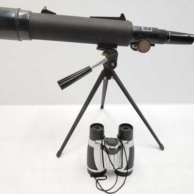 2124  Tasco Spotter Scope and Binoculars Tasco Sptter Scope zooms up to 45x