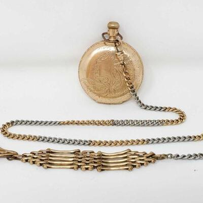 2368  Elgin Pocket Watch with 14k Gold Casing Total Weight is apporx 59g  Serial Number 438376
