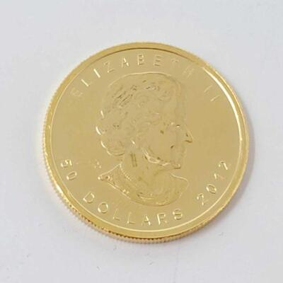 508  1 Oz Canadian Maple Leaf Gold Coin 1 Oz Canadian Maple Leaf Gold Coin
