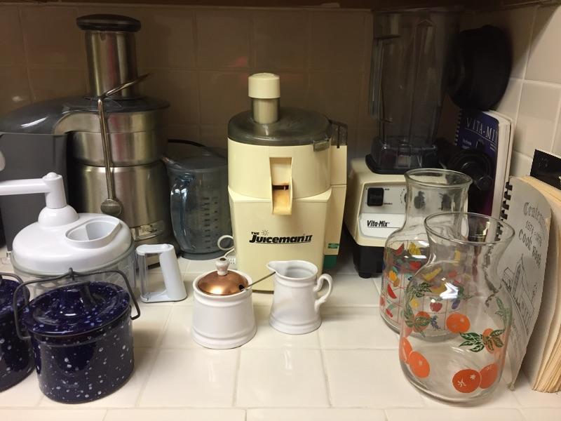 Vita-Mix, Breville and juiceman.