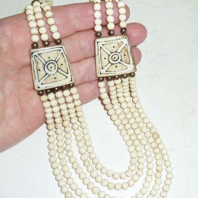 vint. bone necklace