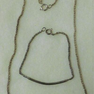 Sterling Necklace and Bracelet