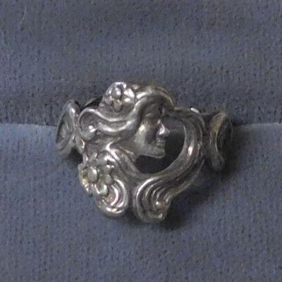 Sterling Art Nouveau Ring