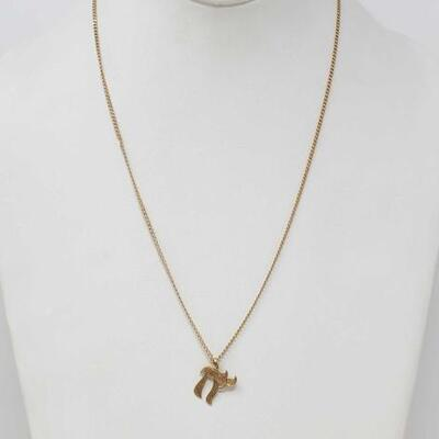 #286 • 14k Gold Necklace And Pendant, 4.8g