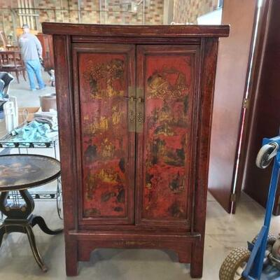 2016 • Vintage Asian Style Wooden Cabinet