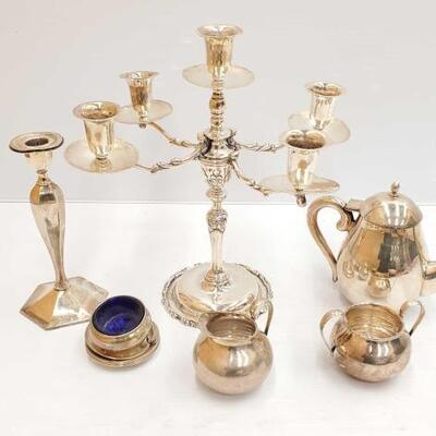 #487 • Sterling Silver Candle Holder, Tea Pot, and More!