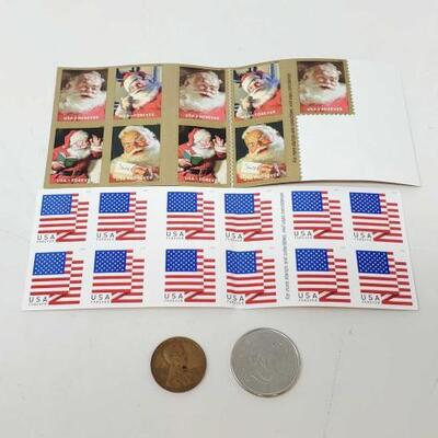 #724 • Stamps, Canada Coin, and One Cent