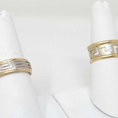 #304 • Two 14k Gold Rings, weighs approx 11.4g