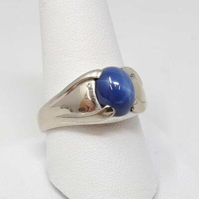 278	  14k Gold Ring With Semi Precious Stone, 8.9g Size 10.5. Weighs 8.9g.