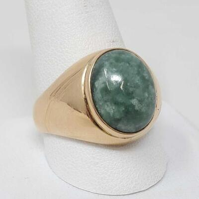 276	  14k Gold Ring With Semi Precious, 9g Weighs Approx 9g. Size 11.5