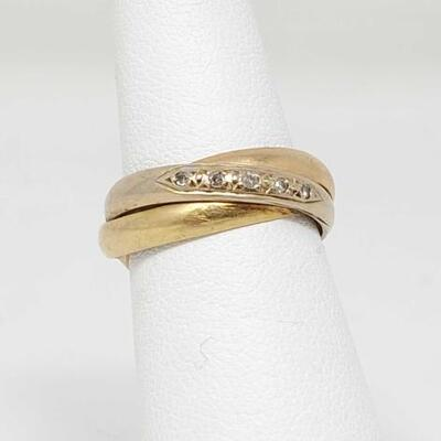210	  18k Gold Ring, 6.7g Weighs Approx 6.7g. Size 5.5