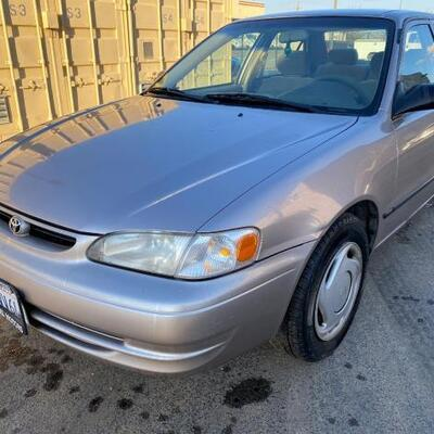 140	  1999 Toyota Corolla. CURRENT SMOG SEE VIDEO... Year: 1999 Make: Toyota Model: Corolla Vehicle Type: Passenger Car Mileage: 146554...
